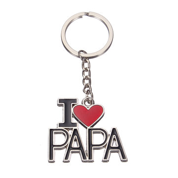 I Love Papa Alloy Enamel Keychain Best Gift For Fathers Day