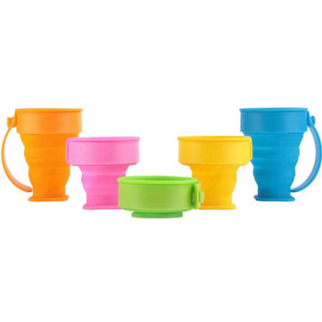 Multifunction Outdoor Portable Folding Water Cup Creative Travel Cup Silicone Folding Cup SKU656956