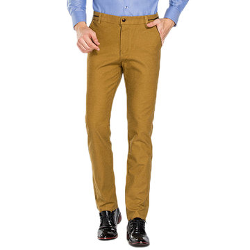 Mens Casual Business Straight Pants