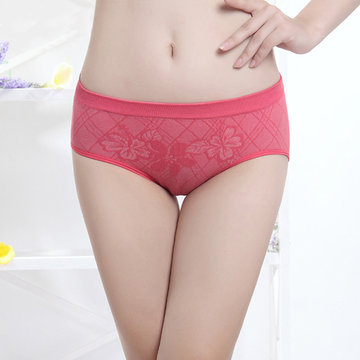 Comfy Breathable Seamless Soft Elastic Panties Low Waist Underwear For Women