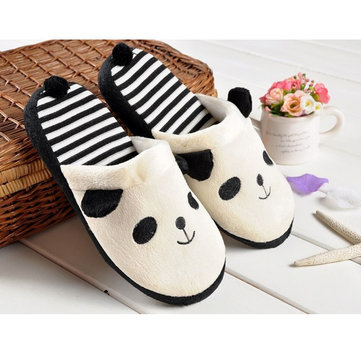Cute Anti Slip Panda With Tail Home Slippers Keep Warm Shoes от Newchic.com INT