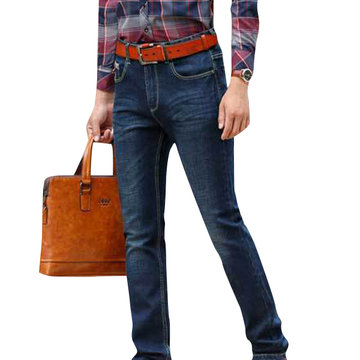 Mens Straight Long Jeans