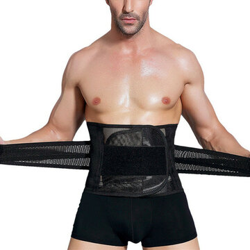 Men's Adjustable Waist Support High Elasticity Breathable Sport Fitness Body Shaper Belly Belt