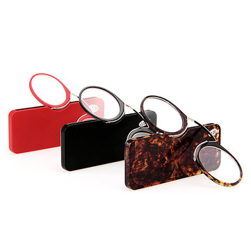 Mini Ultralight Clip Nose Reading Glasses Simple Portable Reading Glasses