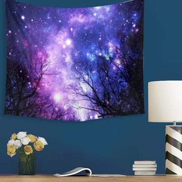 Galaxy Forest Mandala Tapestry Wall Hanging Throw Dorm Bedspread Yoga Mat Decor