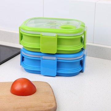Student Outdoor Retractable Portable Fruit Box Silicone Collapsible Lunch Box SKU672014