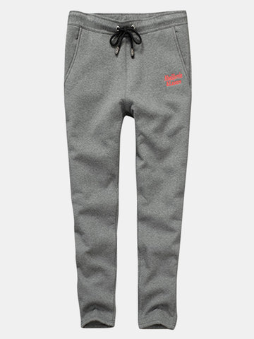 Mens Thermal Thicken Sweat Pants