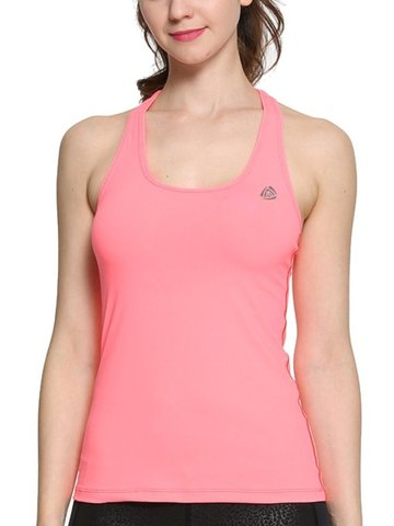 Sexy Patchwork Yoga Running Tank Tops SKU573847