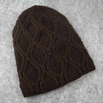 Buy Men Women Crochet Winter Thick Knitted Casual Baggy Slouchy Beanies Hat