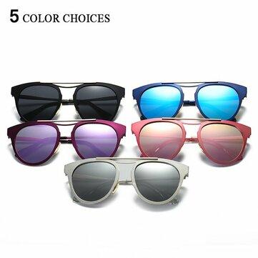 Women Fashion Polarized Glasses Light Irregular Cat Eye Colorful Sunglasses SKU592382