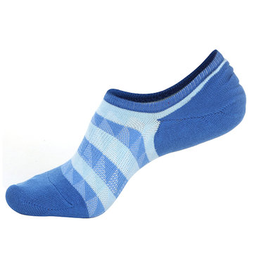 Men Autumn Warm Cotton Boat Socks Stripes Mesh Breathable Ankle Invisible Socks SKU672650