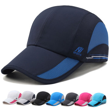 Mens Women Outdoor Sports Waterproof Quick-dry Hat Casual Visors Breathable Baseball Caps SKU572134