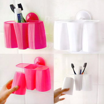 Creative Magnetic Sucker Toothbrush Holder Suction Cup Couples Holder Rack Supply SKU212267