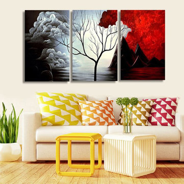 3PCS Unframed Abstract Canvas Wall Art  Landscape Painting Wall Decor