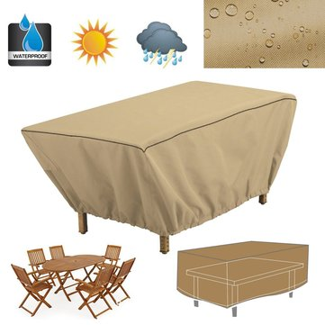 Waterproof Rectangular Patio Coffee Side Table Cover 48″ Large Garden Outdoor Dustproof Cloth