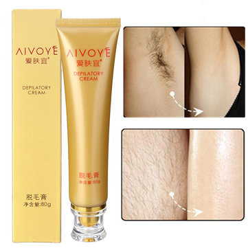 AIVOYE Depilatory Cream Powerful Permanent Body Hair Removal Hair Growth Inhibitor