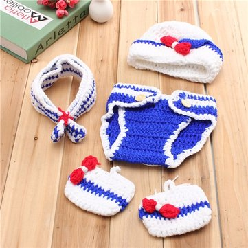 Baby Girls Boys Crochet Knit Costume Photo Photography Prop Outfits
