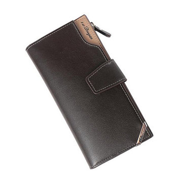PU Leather Trifold Wallet Casual Business Clutch Bag For Men