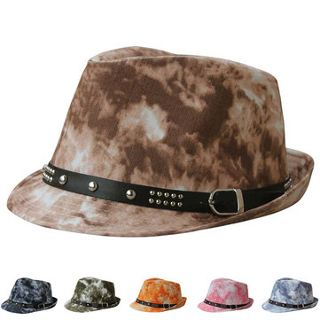 Women Men Summer Graffiti Jazz Hat Casual Beach Hat Cowboy Button Hip-hop Cap