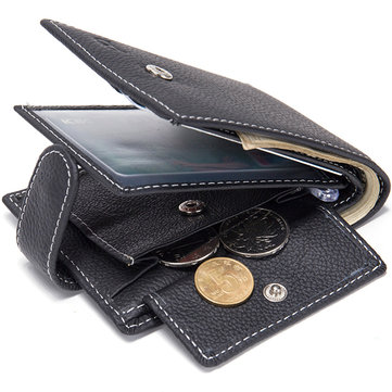 Genuine Leather Multi-card Slot Wallet Business Casual Coin  Bag For Men