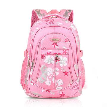 Buy Children Backpack Canvas School Bag Flower Print Rucksack Boy Girl Tour Bags