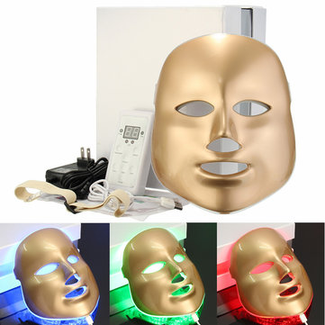 3 Colors Lights LED Facial Mask Skin Rejuvenation Beauty Therapy Wrinkle Acne Removal Mask