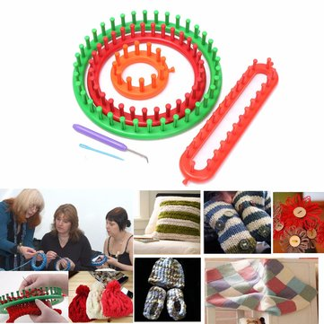 Mixing Machine Knitting Looms Knitting Hand-knit Sweater Scarves Hats Woven Diy Tools