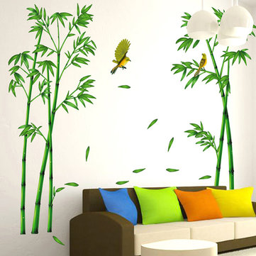 2Pcs Removable Huge Bamboo Mural Poem Art Wall Sticker Decal Home Living Room Decor SKU600873