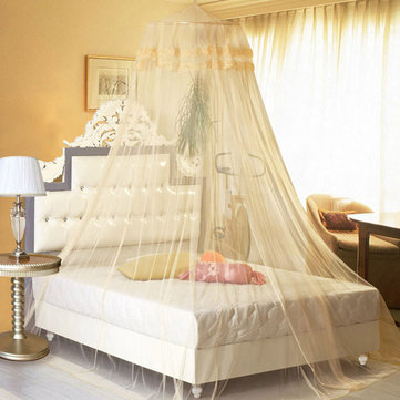 260cm Singledoor Elegant Lace Hanging Bedding Mosquito Net Dome Princess Bed Canopy Netting