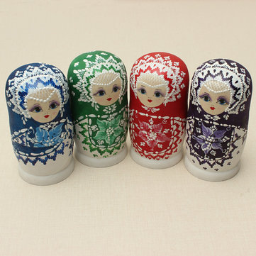 6Pcs Matryoshka Russian Doll Nesting Toys kids colorful Model Tricky Toys Creative Gift