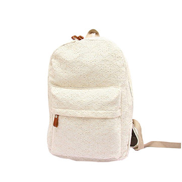 Women Casual Lovely Lace Canvas Sweet Lace Backpack