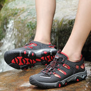 Color Match Breathable Sport Mesh Hollow Out Outdoor Sneakers