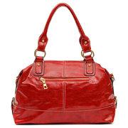 Женщины Элегантный черный красный повседневные сумки Досуг Zipper Магазины Crossbody сумки на ремне сумки