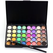 40 Colors Shining Makeup Eyeshadow Shimmer Eye Shadow Palette  Neutral Nude Cosmetic Portable