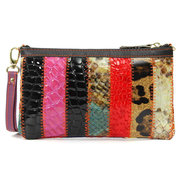 Women Genuine Leather Casual Vintage Wallet Retro Colorful Phone Cash Cards Bags Purse