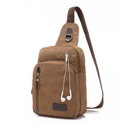 Casual Canvas Chest Bag Outdoor Retro Casual Crossbody Bag Shoulder Bag For Men