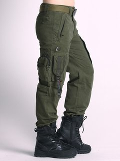 Mens Cargo Pants Military Clothing Tactical Pants Multi-pockets Outdoor Camouflage Trousers