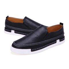 Мода PU скольжения на случайные кроссовки Vintage Style для мужчин