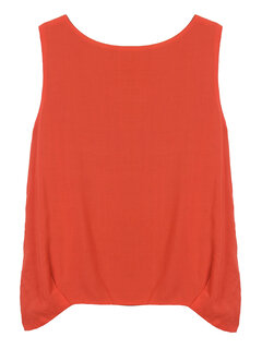 Loose Women Reversible Layer Pure Color Sleeveless Tank Top