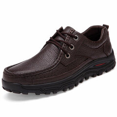 Big Size Men Leather Casual Lace Up Flat Formal Business Shoes