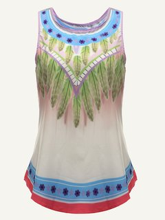 Bohemian Sleeveless Floral PrintedTank Tops For Women