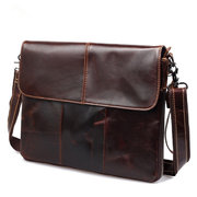 Mans Genuine Leather Bags Cowhide Briefcase Business Bags Solid Handbag Shoulder