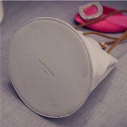 Women Elegant Casual Bucket String Design Crossbody Bag Vintage Leisure Shoulder Bags