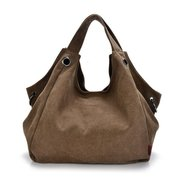 Women Canvas Casual Hobo Large Capcity Crossbody Bag