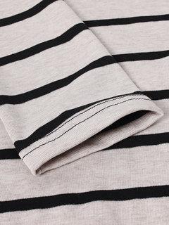 Casual Stripe Long Sleeve Casual Women Cotton T-shirt