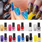 10 цветов Профессиональный Nail Art Stamping польской живописи печати Лак Маникюр