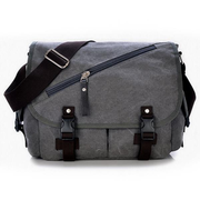 Men Casual Canvas Messenger Shoulder Bag Large Capacity Crossbody Bag