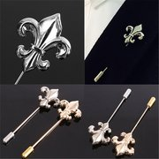 Men Groom Vintage Alloy Spear Lapel Stick Brooch Pin Corsage Wedding Suit Shirt Accessories