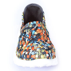Colorful Breathable Slip On Knitting Casual Shoes