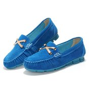 Women Casual Metal Button Loafers Flat Shoes